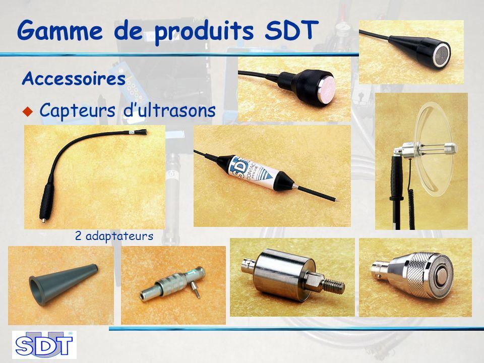 Gamme de produits SDT Accessoires Capteurs dultrasons 2 adaptateurs