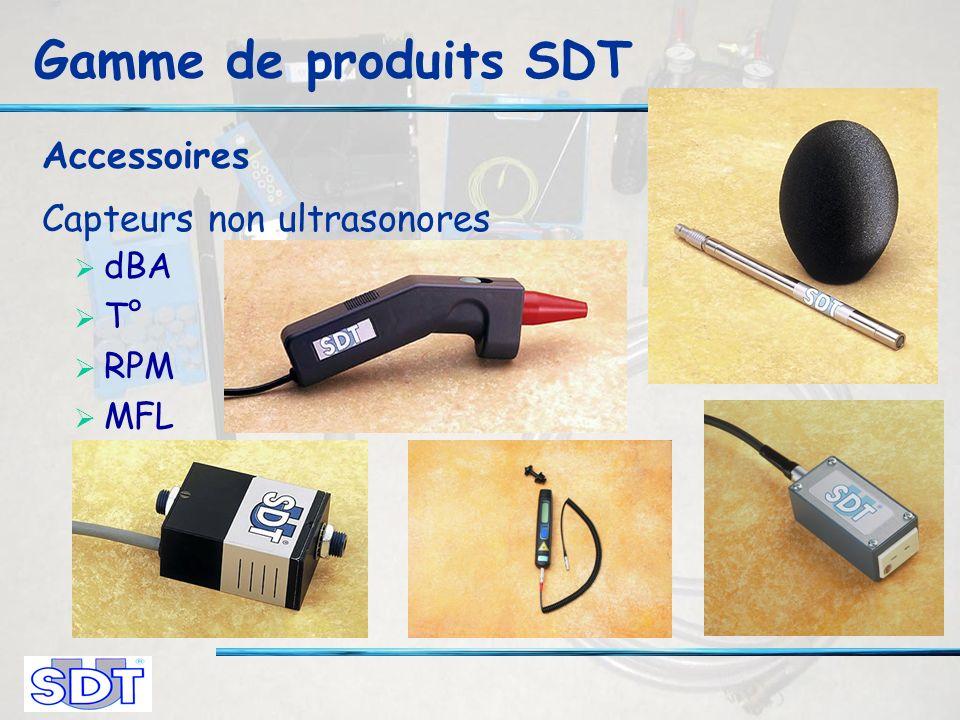 Gamme de produits SDT Accessoires Capteurs non ultrasonores dBA T° RPM MFL