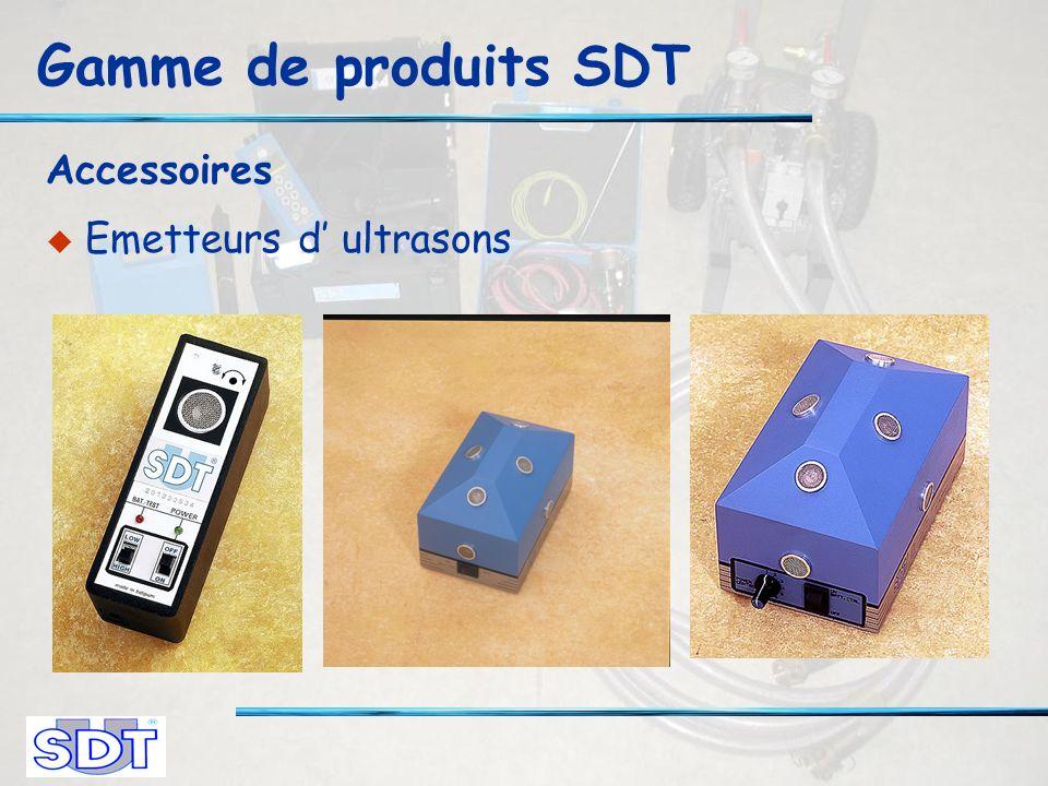 Gamme de produits SDT Accessoires Emetteurs d ultrasons