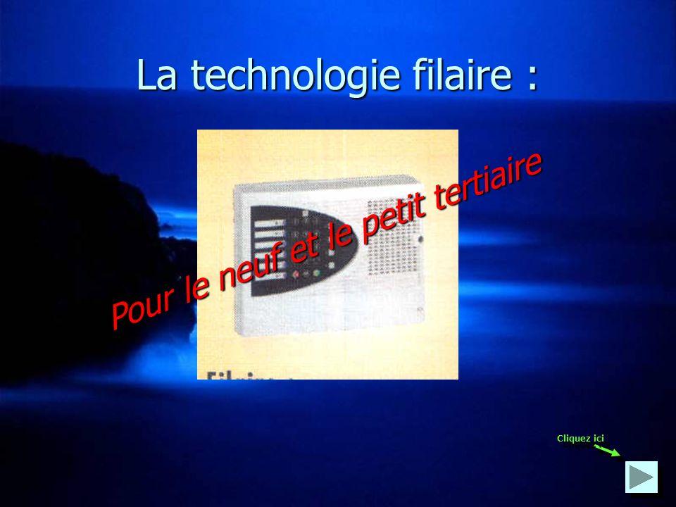 Lalarme intrusion existe en 2 technologies : La technologie filaire La technologie filaire La technologie radio La technologie radio Cliquez ici ou ici Cliquez ici