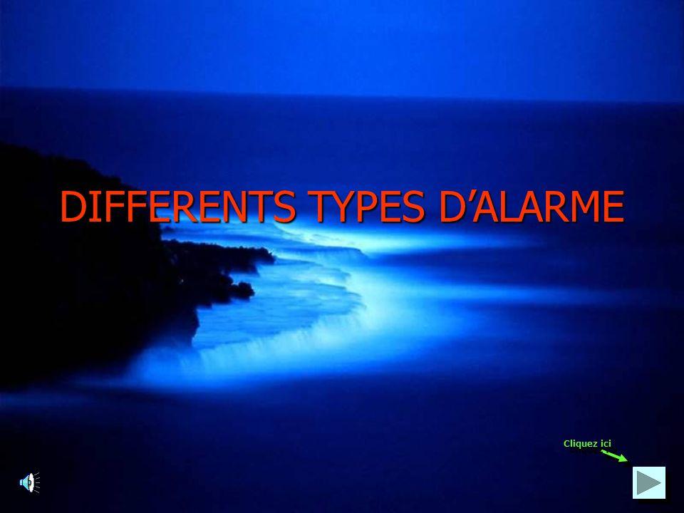 Les alarmes de Types 1 et 2 peuvent être installées par des électriciens initiés, initiés, tandis que lalarme de Type 3 ne peut être installée que par des installateurs agréés APSAIRD APSAIRD : Association Plénière des Sociétés dAssurance Incendie et Risques Divers Cliquez ici