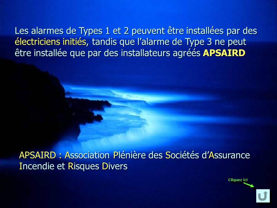 Un système dalarme doit répondre aux exigences des Normes Françaises Assurance Protection Prévention.