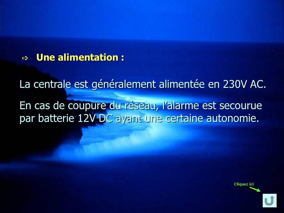 Une pré-alarme : Une pré-alarme : Une boucle de pré-alarme permet dengendrer une sonnerie ou un éclairage temporisé lors dune approche du lieu protégé