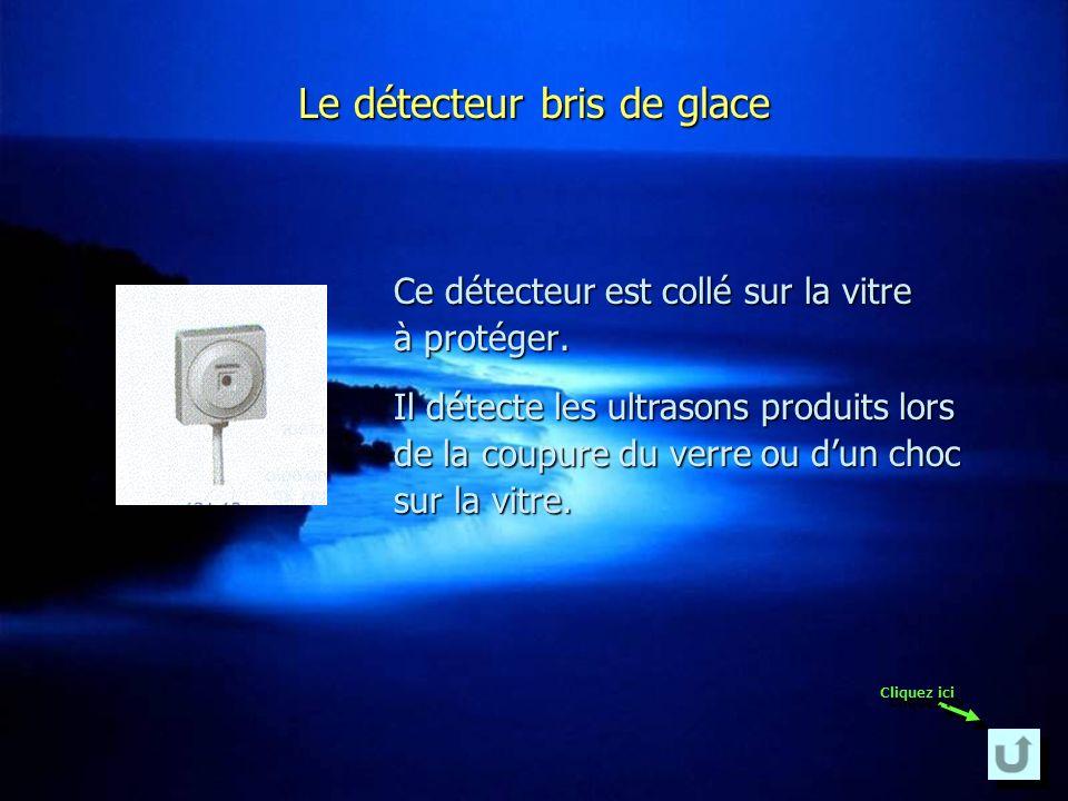 Le détecteur magnétique Ce détecteur sert à contrôler les issues. Il sinstalle au niveau des portes ou des fenêtres.