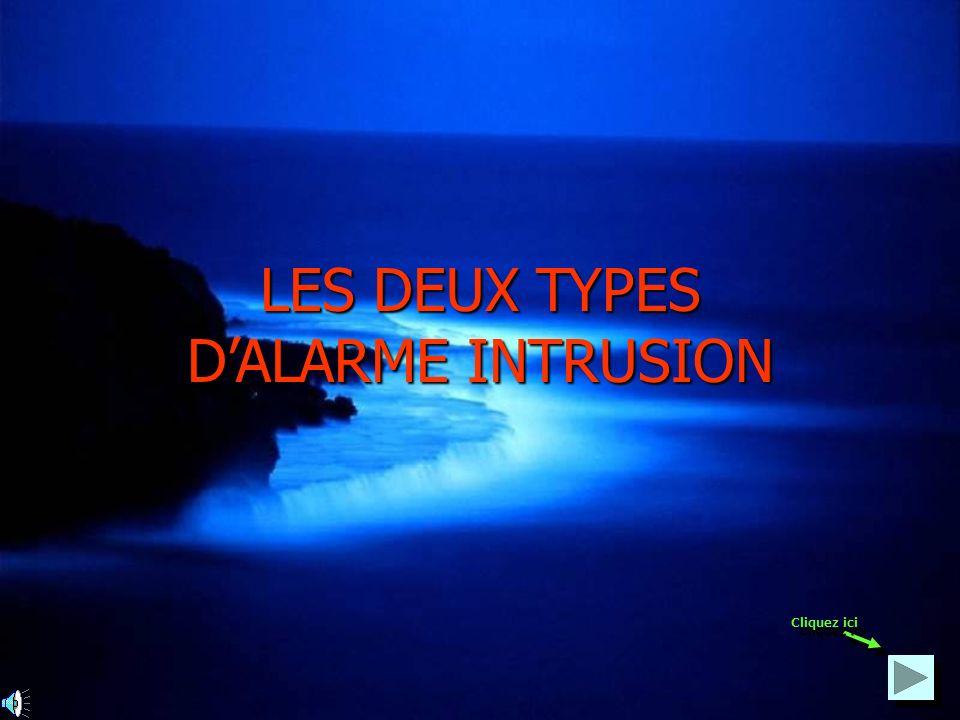 LES DEUX TYPES DALARME INTRUSION Cliquez ici
