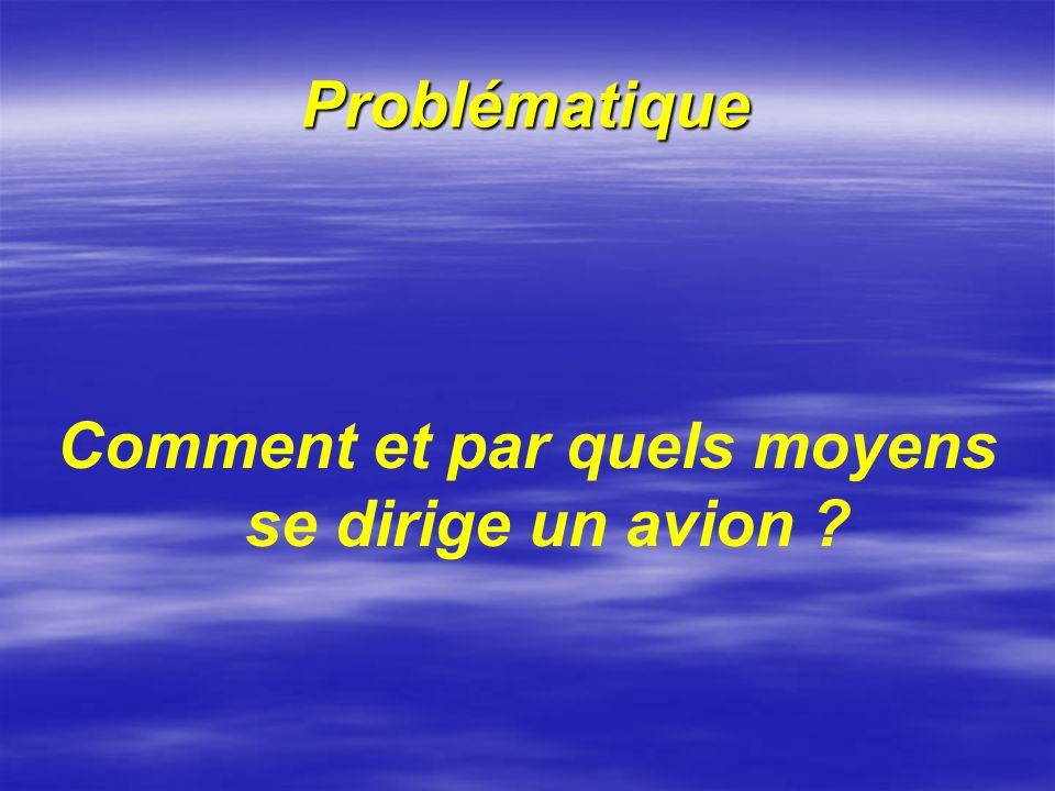 Problématique Comment et par quels moyens se dirige un avion ?
