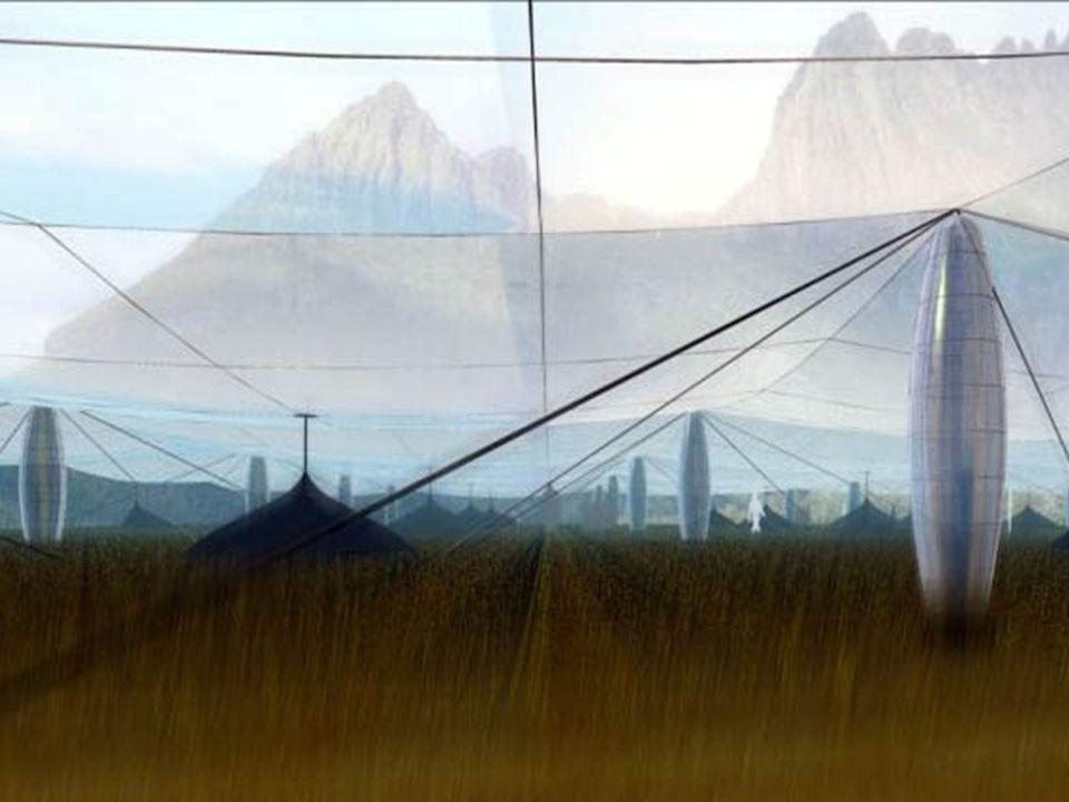 L'évolution vers la montagne solaire La Montagne Solaire est une évolution du concept de cheminée solaire. Les inconvénients inhérents aux tours solai