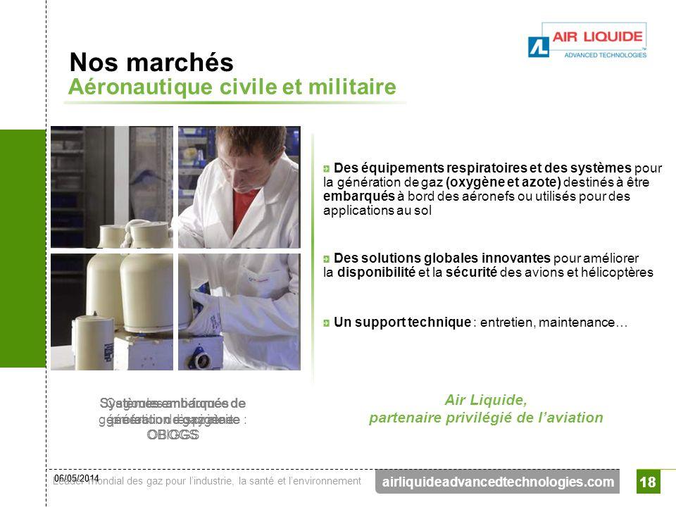 06/05/2014 Leader mondial des gaz pour lindustrie, la santé et lenvironnement 18 airliquideadvancedtechnologies.com 18 Des équipements respiratoires e