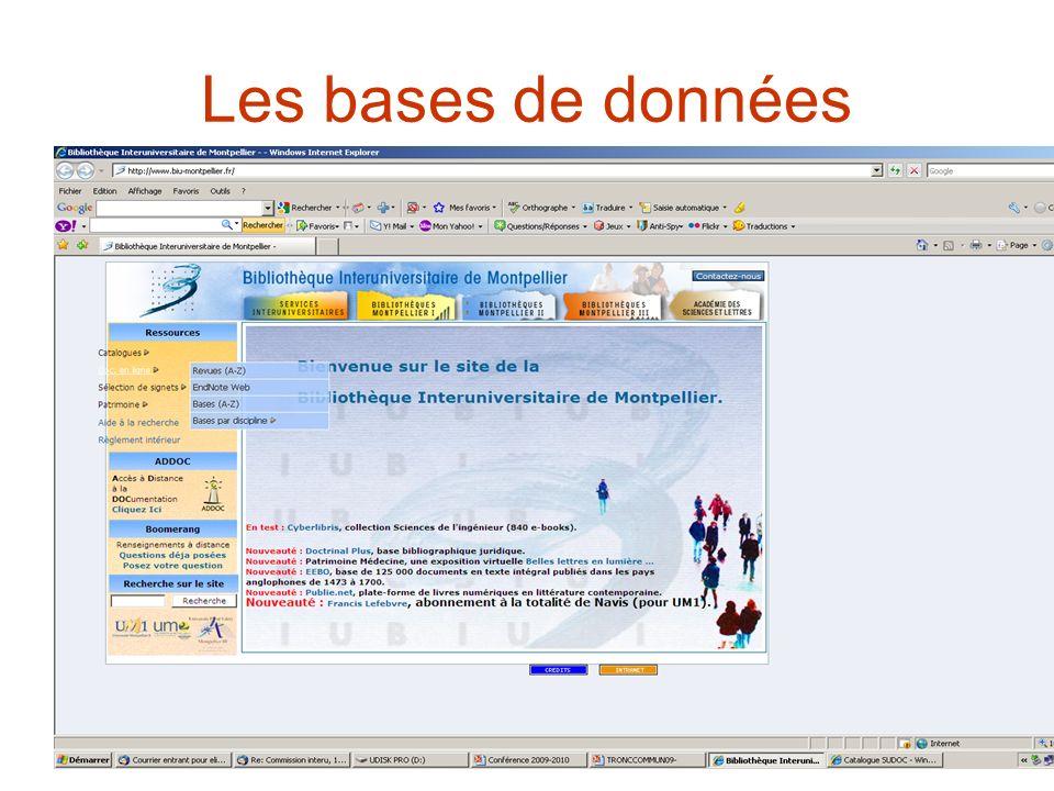 Les bases de données
