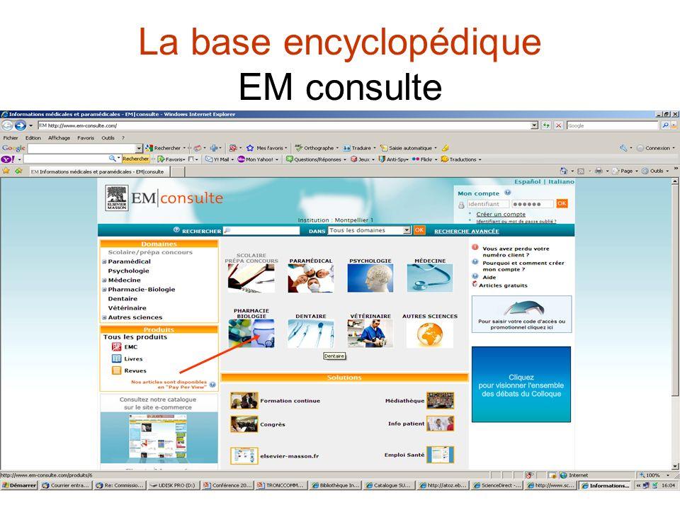 La base encyclopédique EM consulte