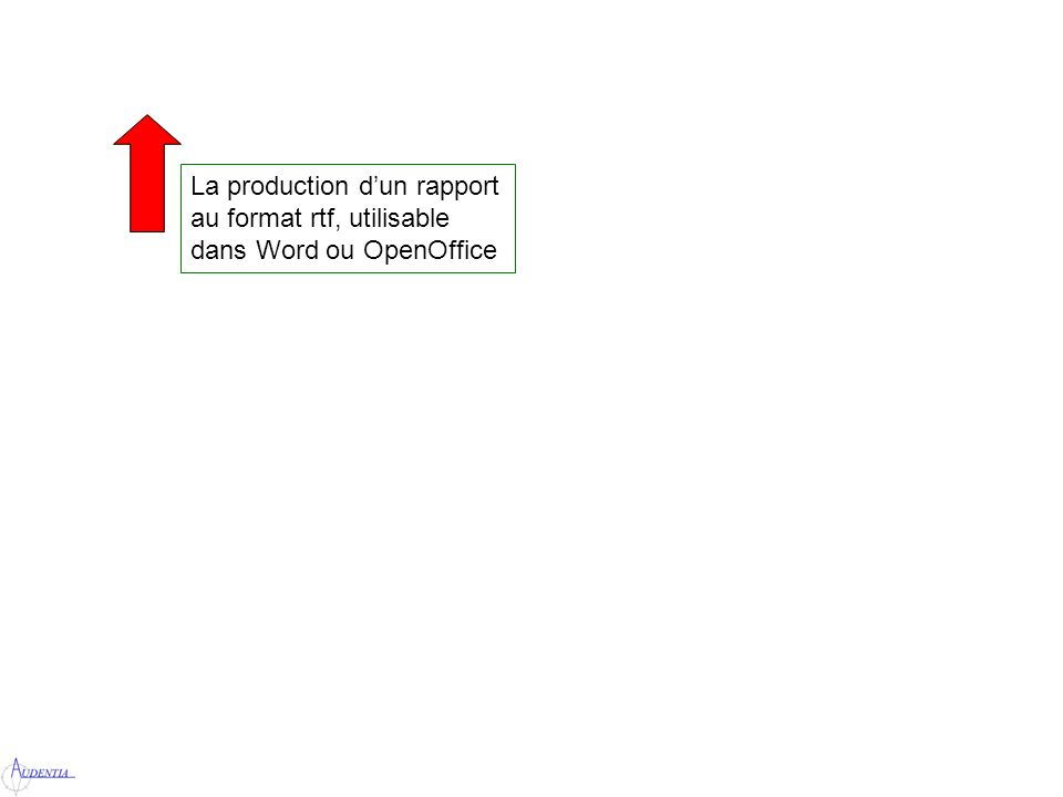 La production dun rapport au format rtf, utilisable dans Word ou OpenOffice