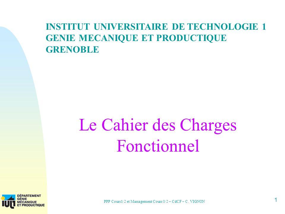 22 PPP Cours1/2 et Management Cours 0/2 – CdCF – C.