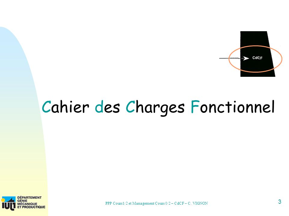 34 PPP Cours1/2 et Management Cours 0/2 – CdCF – C. VIGNON