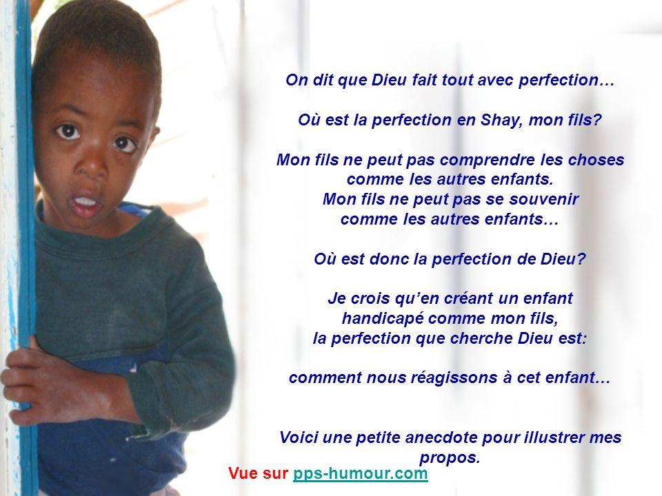 Au cours dun dîner dune œuvre de charité, le père dun enfant handicapé a prononcé un discours inoubliable… Le voici: Vue sur pps-humour.compps-humour.