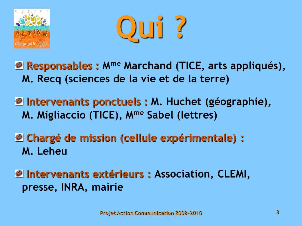 3 Projet Action Communication 2008-2010 Qui .