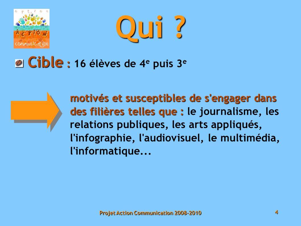 4 Projet Action Communication 2008-2010 Qui .