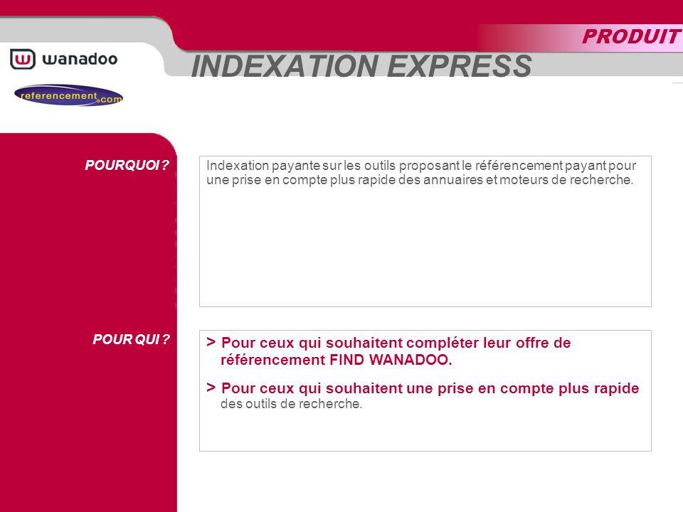 INDEXATION EXPRESS POURQUOI . POUR QUI .