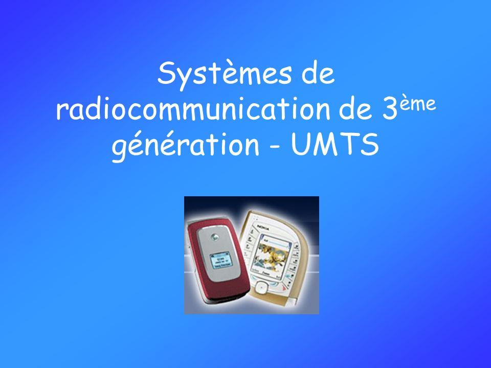 Système UMTS Augmenter les débits pour proposer de nouveaux services : Chargement de musique, vidéo, images Visiophonie TV mobile Internet