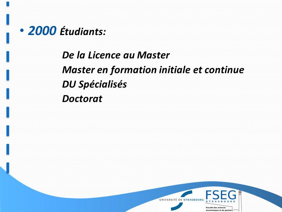 La Faculté des Sciences Économiques et de Gestion de Strasbourg constitue un des plus importants sites académiques de France en sciences économiques et en sciences de gestion en matière d enseignement et de recherche Une devise La qualité de la formation par lexcellence de la recherche