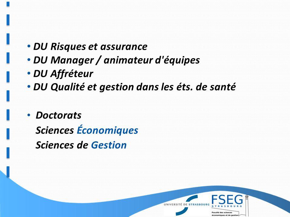 6 Mentions de Master Analyse et Politiques Économiques Finance Management des Projets et des Organisations Economie et Gestion du Risque et de lAssurance Métiers de la formation en Sc.