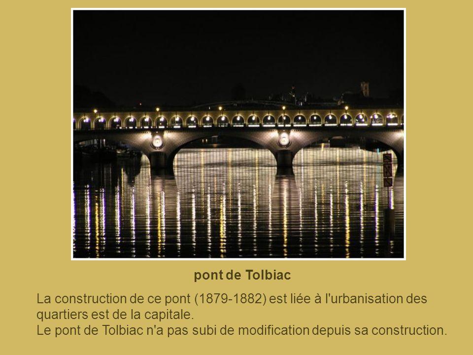 pont de Bercy Le pont actuel a été reconstruit dans le cadre d'un projet de remise en état des ponts, lancé par Napoléon III. Le chantier s'est termin