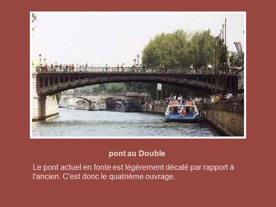 pont de l'Archevêché Le pont de l'Archevêché tient son nom de l'ancien archevêché de Paris près duquel il débouchait. Cet édifice a été incendié, pill