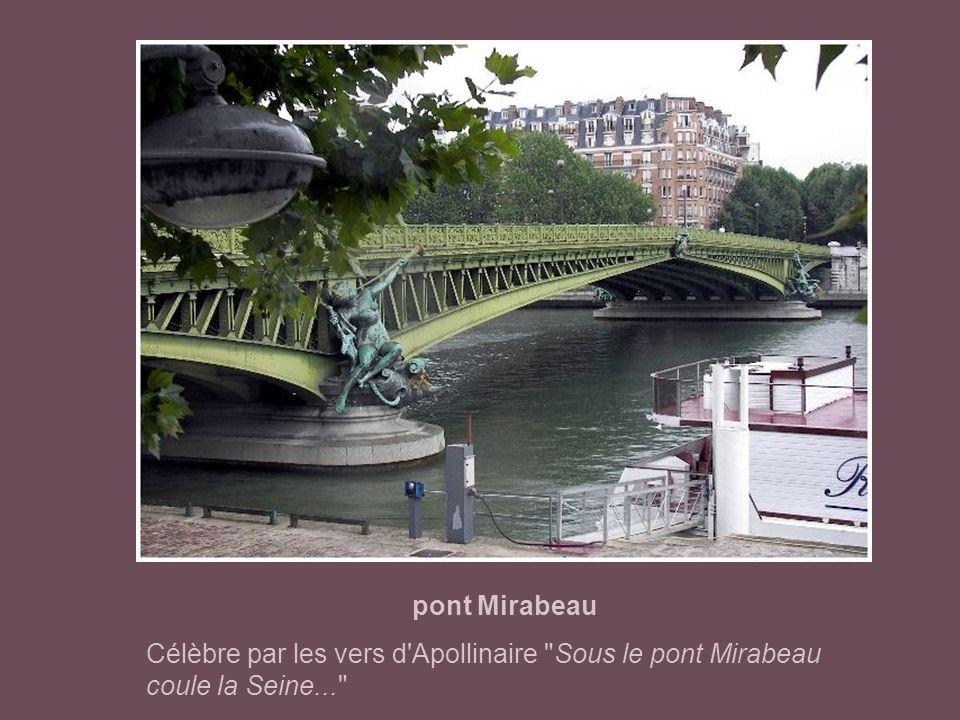 pont du Garigliano construit à la place du Viaduc d'Auteuil