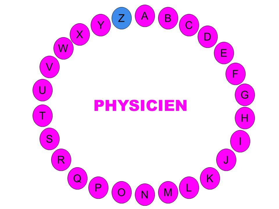 M A G S C U H W Y I F D B L K J T R Q P O N E V Z (Contient le Y ) Spécialiste de physique. X