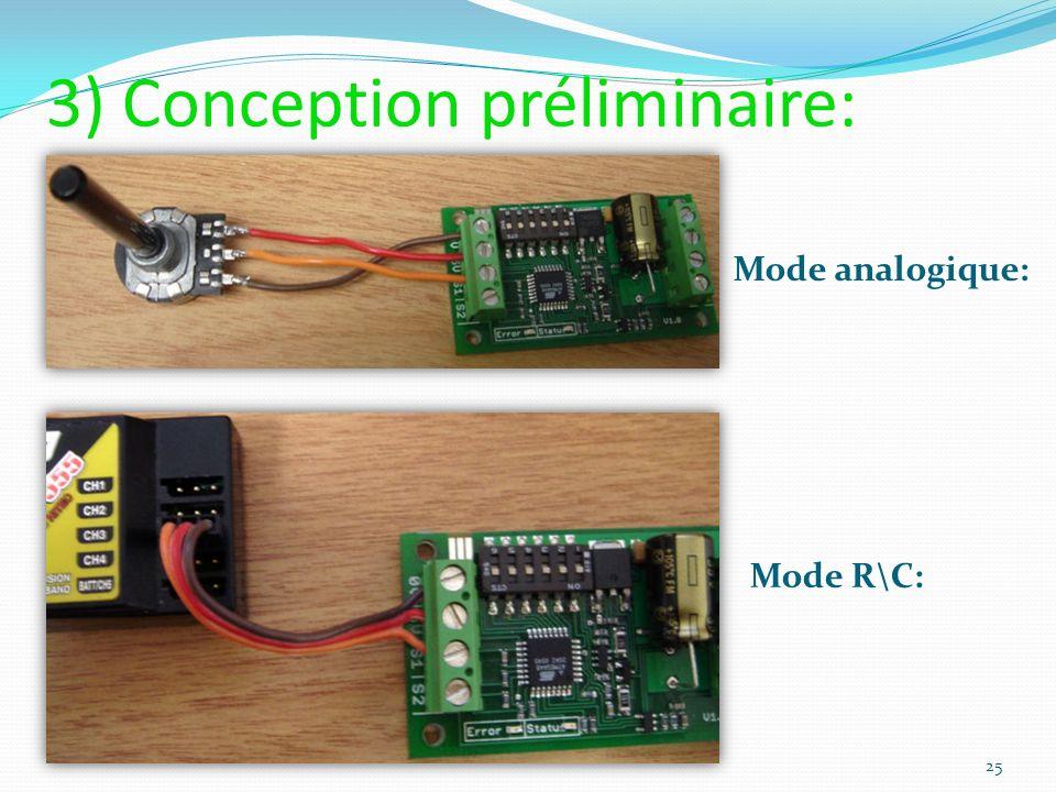 Mode analogique: Mode R\C: 25 3) Conception préliminaire: