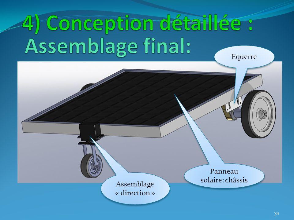 Panneau solaire: châssis Assemblage « direction » 34 Equerre