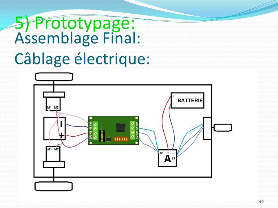 Assemblage Final: Câblage électrique: 40 5) Prototypage: