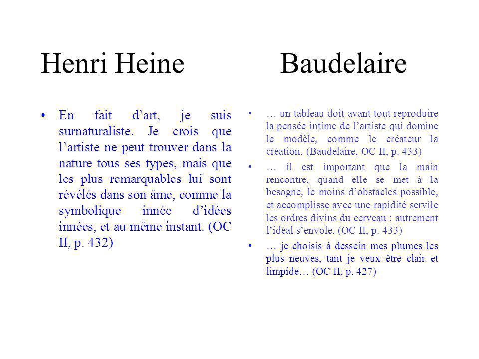 Henri HeineBaudelaire En fait dart, je suis surnaturaliste.