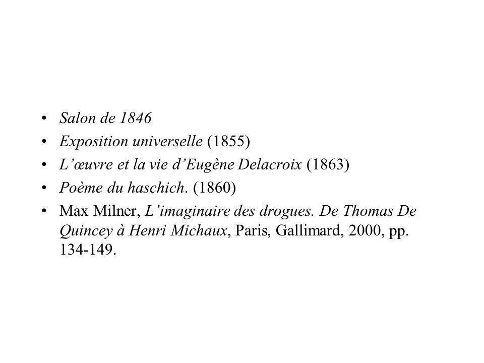 Delacroix, Scènes de massacre de Scio ; familles grecques attendant la mort ou lesclavage… Stendhal, Salons, Gallimard, « Le promeneur », 2002, pp.