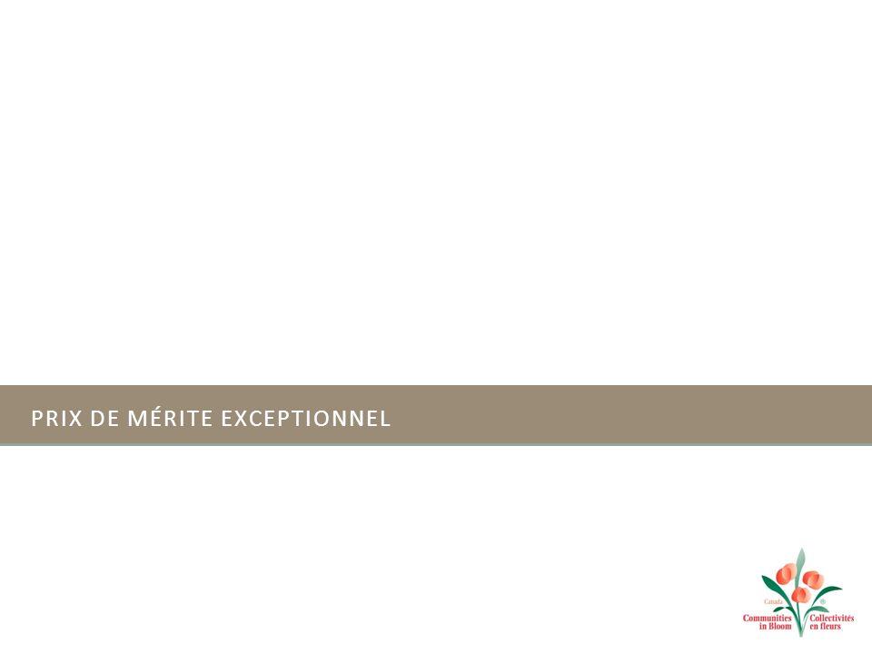 PRIX DE MÉRITE EXCEPTIONNEL