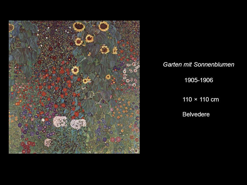 Garten mit Sonnenblumen 1905-1906 110 × 110 cm Belvedere