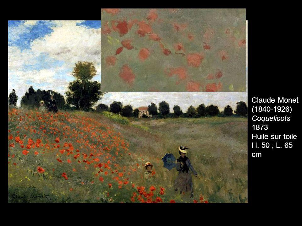 Claude Monet (1840-1926) Coquelicots 1873 Huile sur toile H. 50 ; L. 65 cm