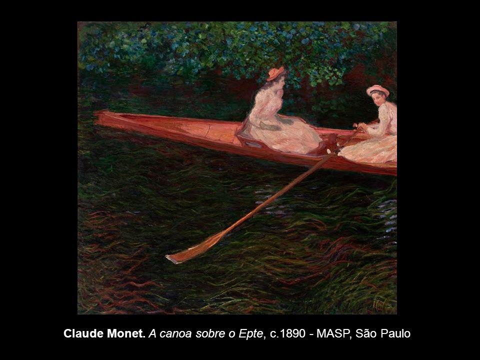 Claude Monet. A canoa sobre o Epte, c.1890 - MASP, São Paulo