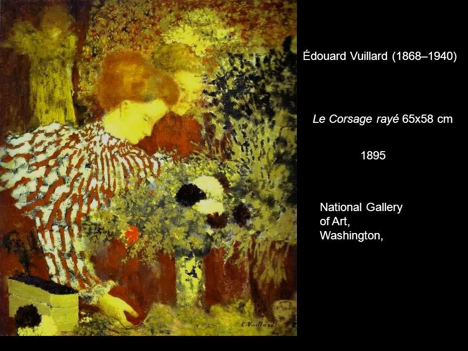 Le Corsage rayé 65x58 cm 1895 National Gallery of Art, Washington, Édouard Vuillard (1868–1940)
