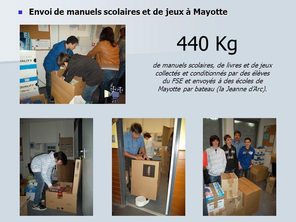 Envoi de manuels scolaires et de jeux à Mayotte Envoi de manuels scolaires et de jeux à Mayotte 440 Kg de manuels scolaires, de livres et de jeux coll