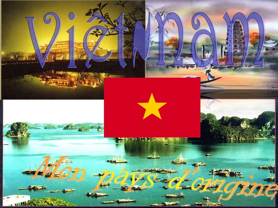 Viêt-Nam est un petit pays, se situe en sud de Chine et se situe à louest le Laos et le Cambodge.