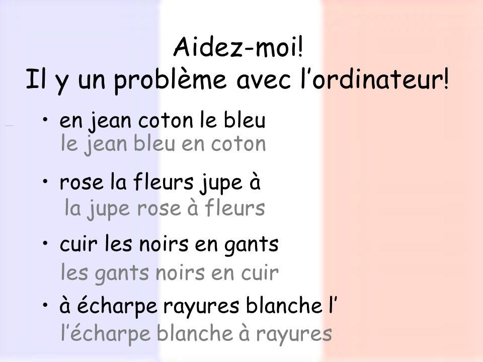 en jean coton le bleu rose la fleurs jupe à cuir les noirs en gants à écharpe rayures blanche l Aidez-moi! Il y un problème avec lordinateur! le jean