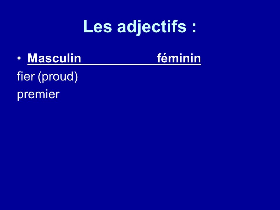 Les objets directs What is a direct object .It receives the action of the verb.