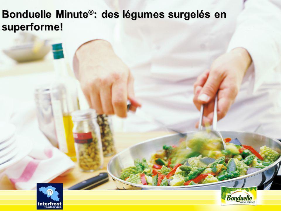 Bonduelle Minute ® : des légumes surgelés en superforme!