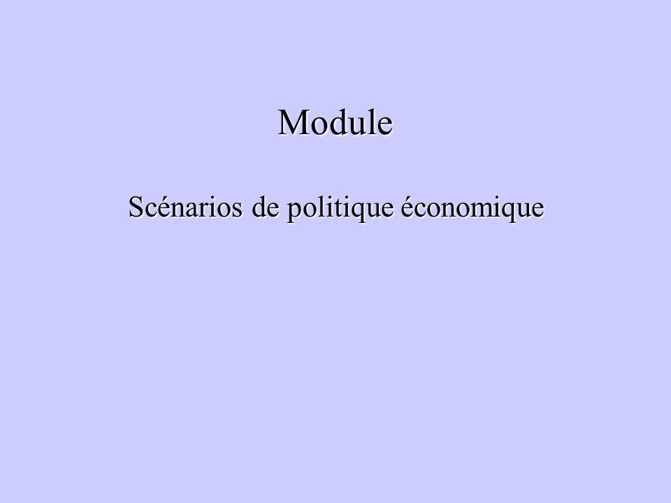 Module Scénarios de politique économique