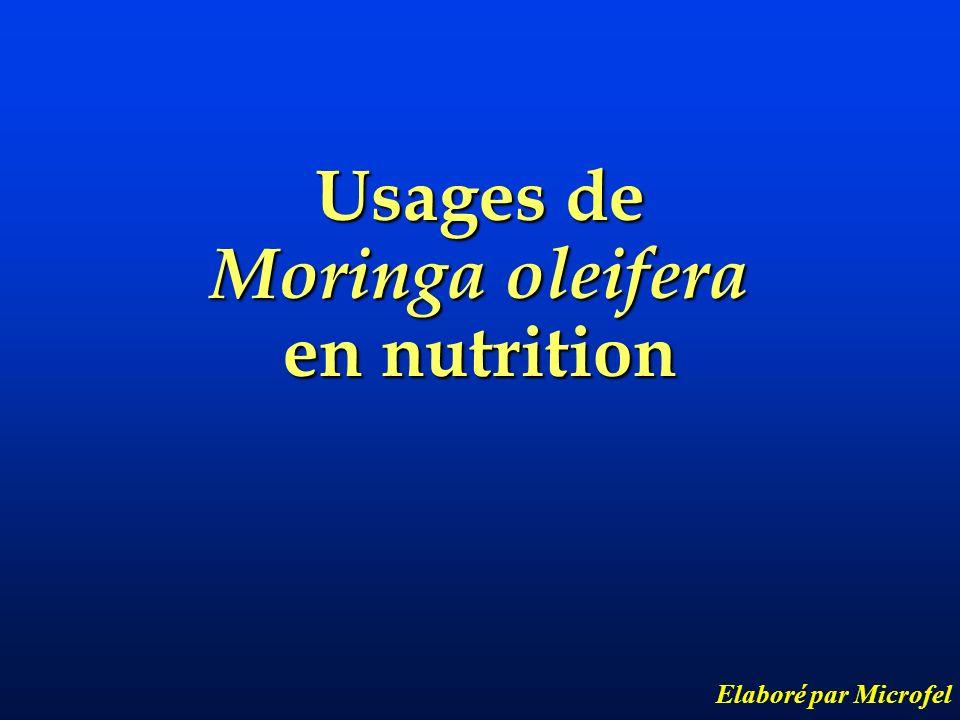 Usages de Moringa oleifera en nutrition Elaboré par Microfel