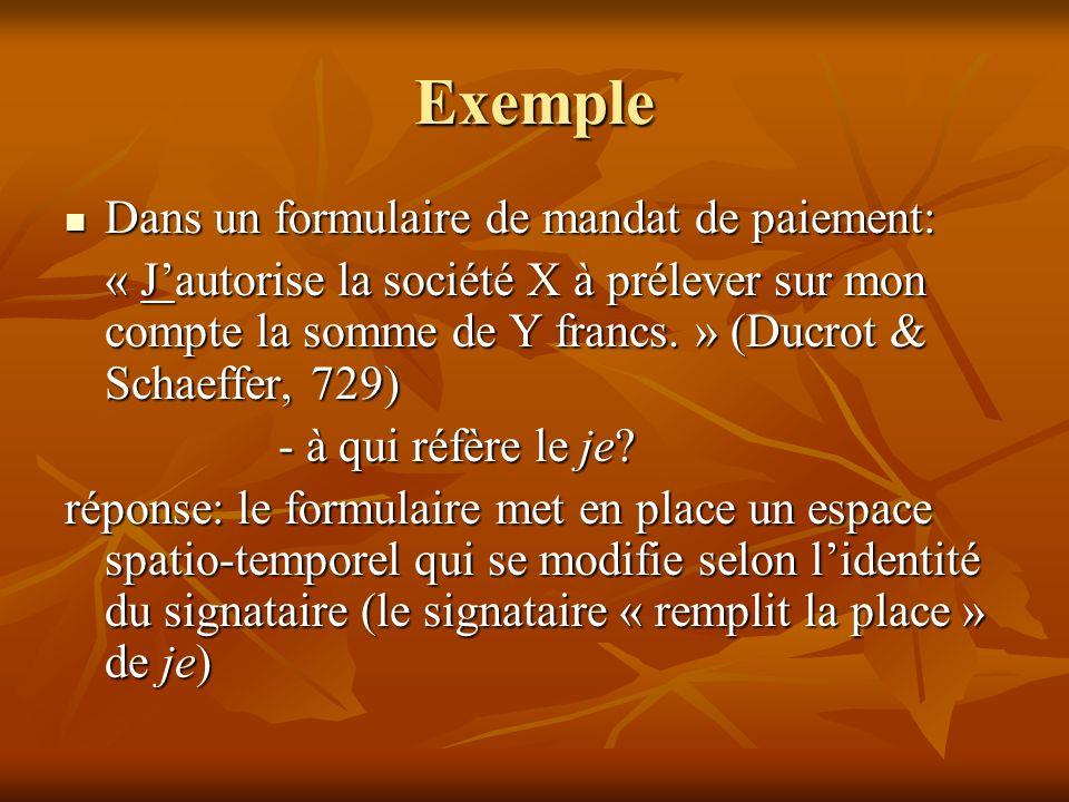 Exemple Dans un formulaire de mandat de paiement: Dans un formulaire de mandat de paiement: « Jautorise la société X à prélever sur mon compte la somm