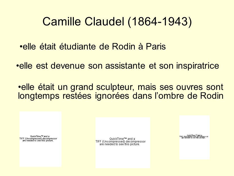 Camille Claudel (1864-1943) elle était étudiante de Rodin à Paris elle est devenue son assistante et son inspiratrice elle était un grand sculpteur, m
