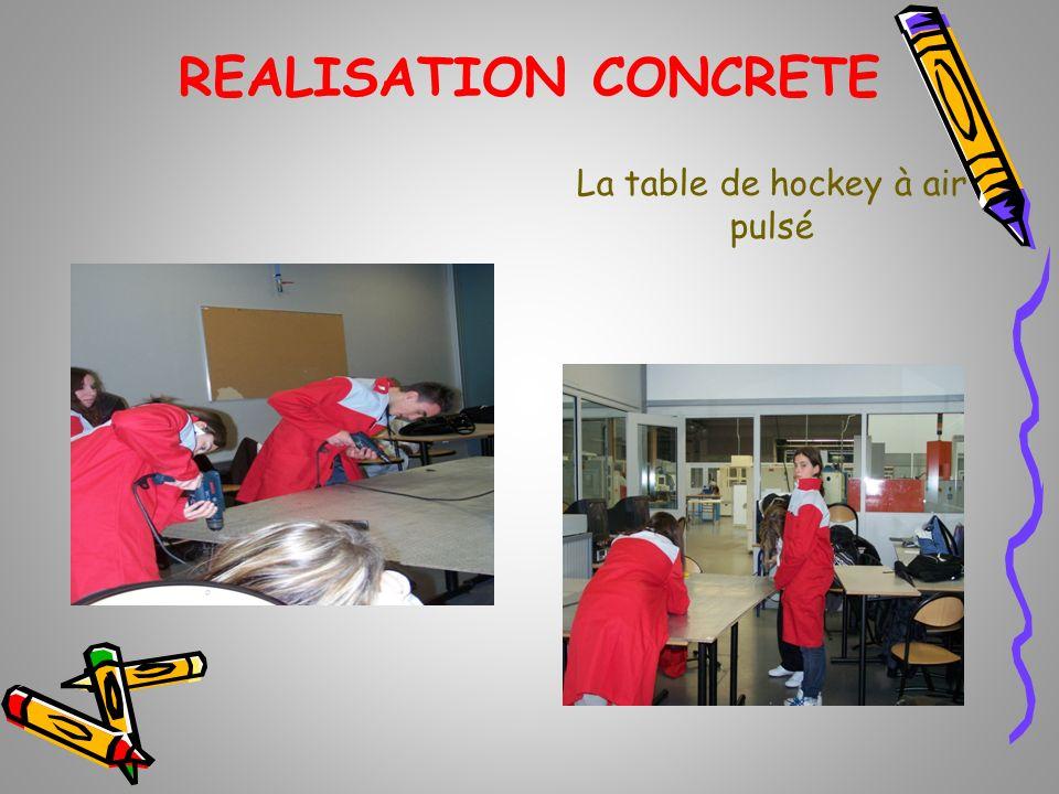REALISATION CONCRETE La table de hockey à air pulsé