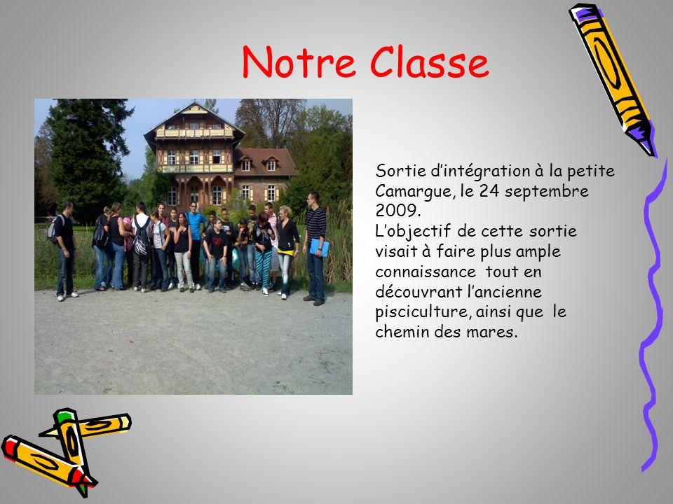Notre Classe Sortie dintégration à la petite Camargue, le 24 septembre 2009. Lobjectif de cette sortie visait à faire plus ample connaissance tout en