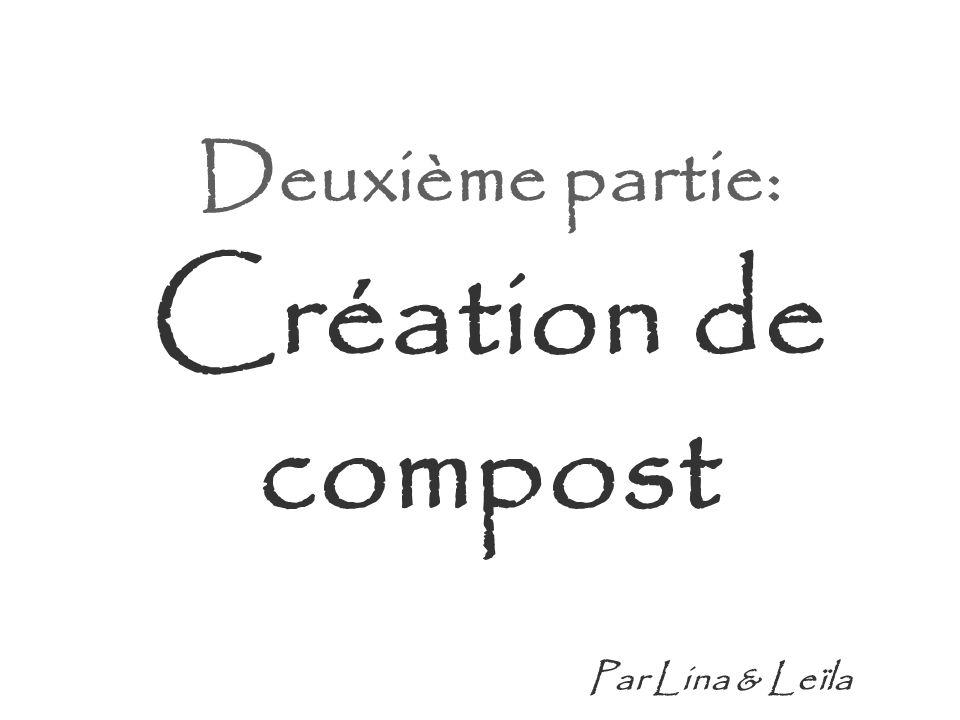 Deuxième partie: Création de compost Par Lina & Leïla